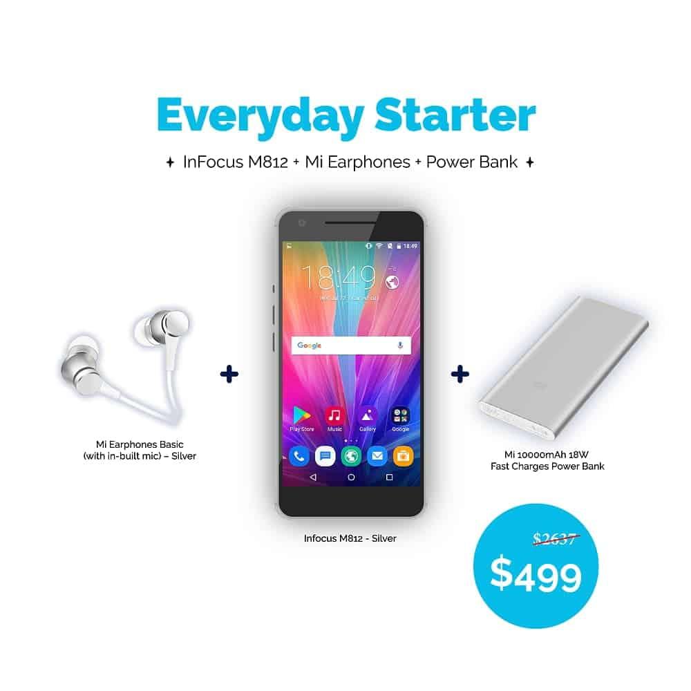Ola Tech Everyday Starter Bundle - InFocus M812 x Mi Accessories