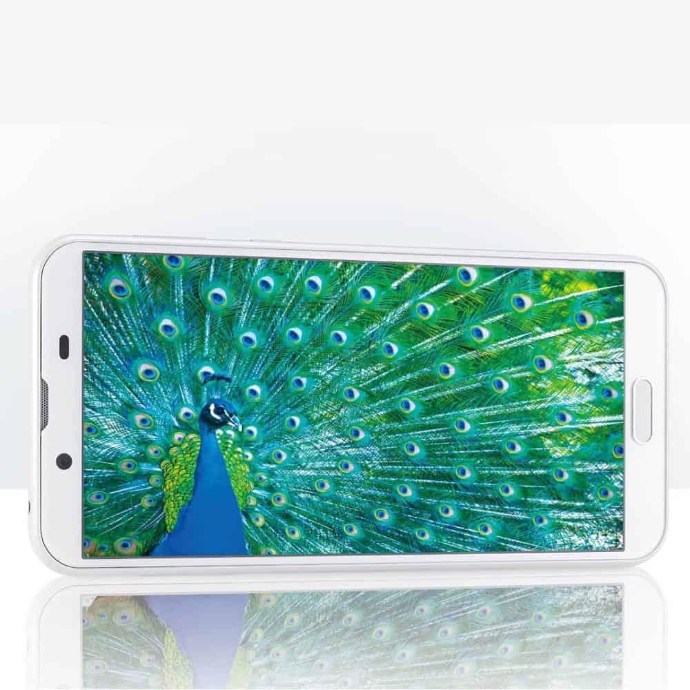 5.5 inch 2160x1080 screen on Sharp SHV43