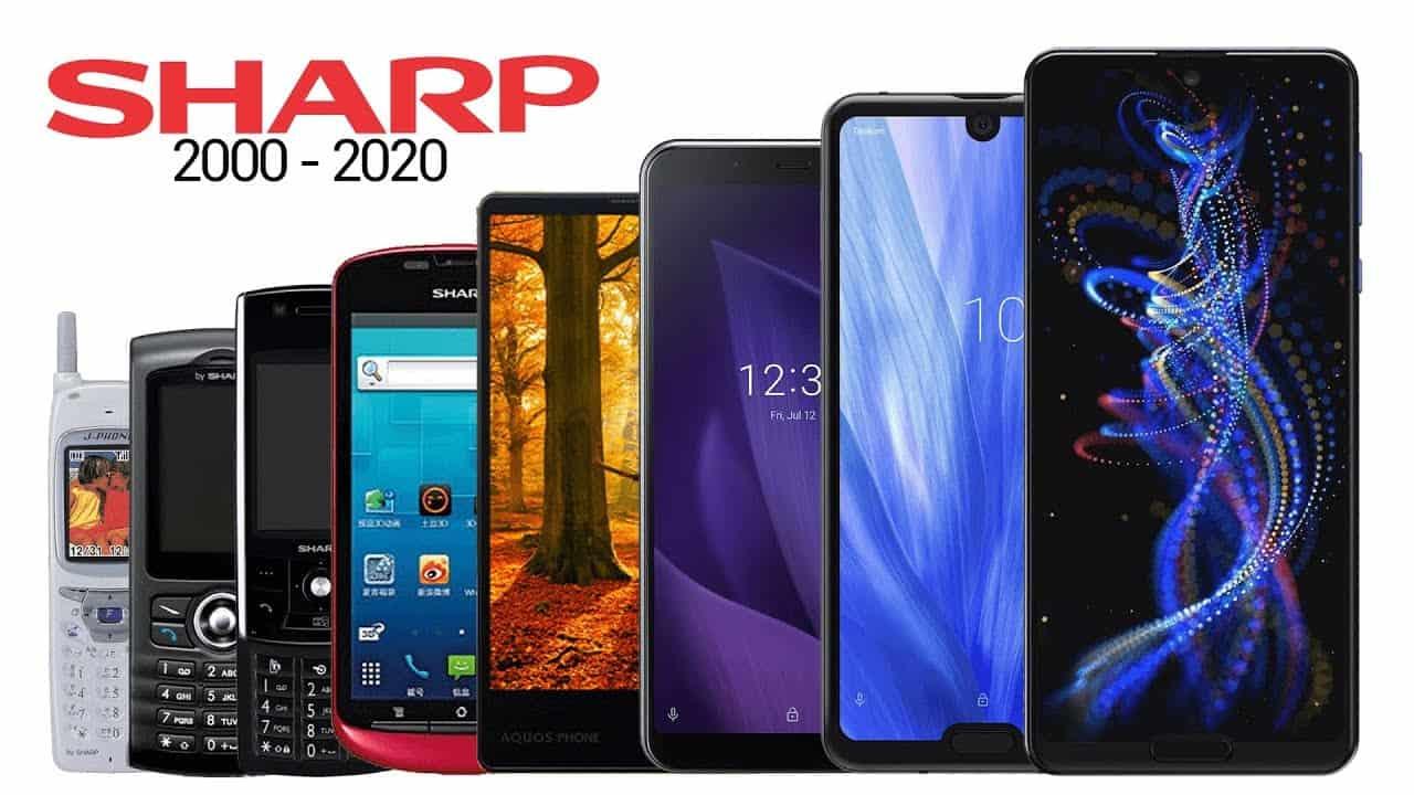Sharp phone from 2000-2020