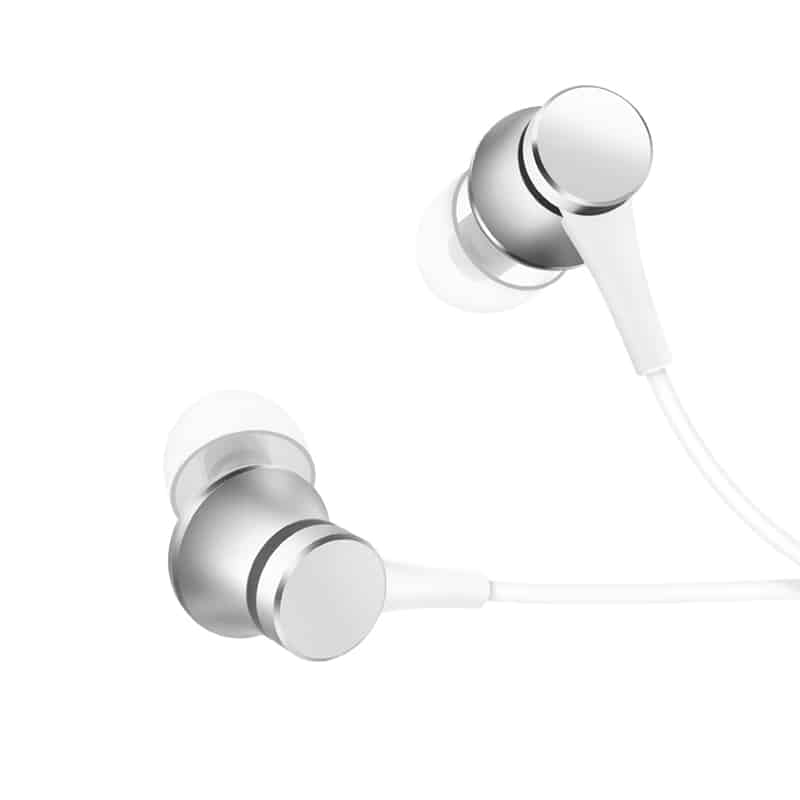 mi earphones silver